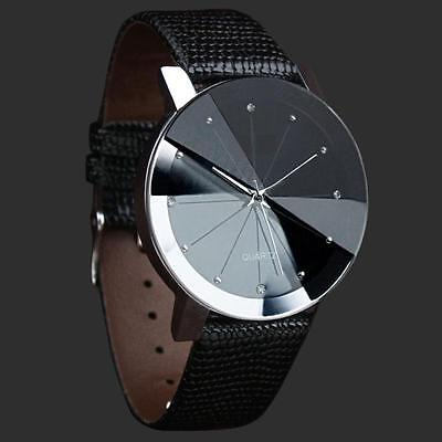 Luxury Quartz Sport Military Stainless Steel Dial Leather Band Wrist Watch 6.10