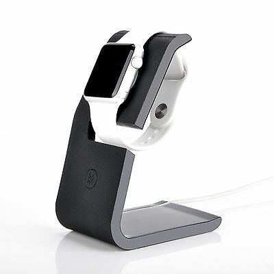 Minisuit Charging Dock Station Stand for Apple Watch 38 or 42mm (Black Matte)