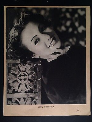 Olga Morosova ballet ballerina photo gravure by Gordon Anthony 1937 England