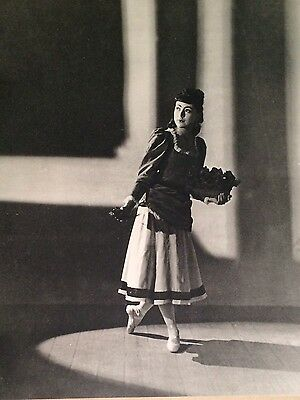 Margot Fonteyn ballet ballerina photo gravure by Gordon Anthony 1937 England