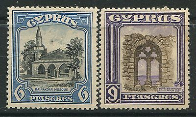 Cyprus 1934 6 piastres & 9 piastres mint o.g. hinged