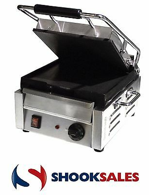 Omcan 21464 Commercial Restaurant SS Steel Panini Pita Ribbed Sandwich Grill ETL