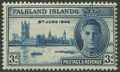 Falkland Islands 1946 Peace 3d the Major Re-entry mint o.g. hinged