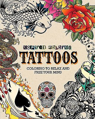 The Lakeside Collection Inspired Coloring Books for Adults - Tattoo