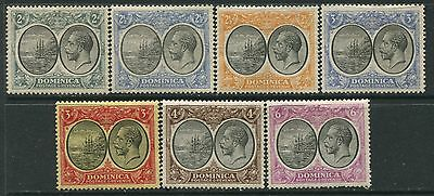 Dominica 1923 2d to 6d mint o.g. hinged