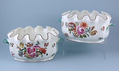 Pair of 18th century Meissen (dot period) porcelain glass coolers, C1763 -74