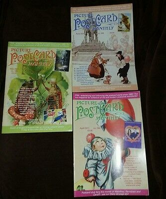 Picture Postcard Monthly x 3 ... April 2011,May 2011,June 2011, magazines