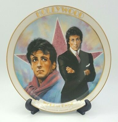 *VINTAGE* SYLVESTER STALLONE Plate HOLLYWOOD WALK OF FAME Danbury Mint