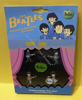 The Beatles Saturday Morning Cartoon 5 Pin Collector Set