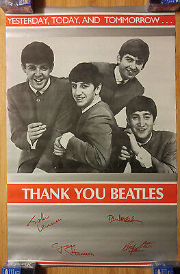 Vintage Music Poster Beatles - Yesterday, Today, And Tomorrow Thank You Beatles