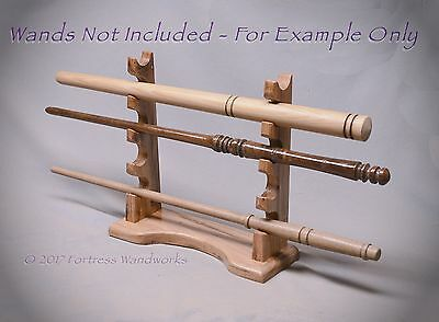 Wood Magic Wand Display for 5 Pacific NW Ash Wizard Pagan Wicca Metaphysical