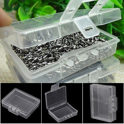 Transparent Fishing Lure Hook Bait Tackle Plastic Storage Box Container Case