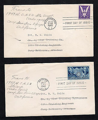First day covers # 905 Win the War and 906 Chinese -  wartime forwarding