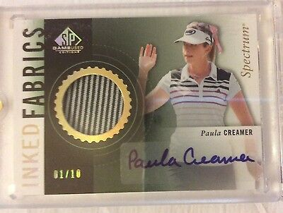 2013-14 SP Game Used Golf PAULA CREAMER AUTO Inked Fabrics spectrum 01/10 1/1?