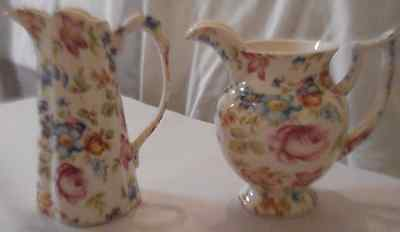 Set of 2 Vintage Lord Nelson Minature Jugs in 'Marina' Design