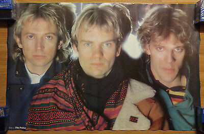 Vintage Music Poster The Police 1983