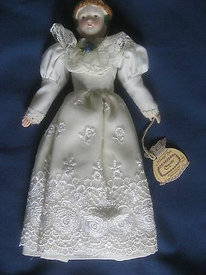 "Vintage Bisque Victorian Style Figure Doll 9"" Tall By Enesco 1982"