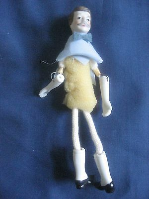 "Vintage Bisque Male Figure Doll 6.5"" Tall"
