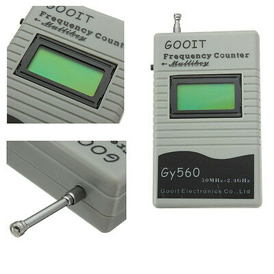 9V GY560 50MHz~2.4GHz Radio GSM Frequency Counter Digital Channel Scanner RF