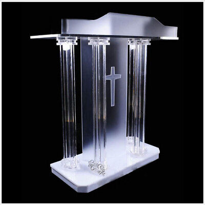 Lectern Pulpit Church School Hotel Speech Acrylic Pulpit Podium High Quality New
