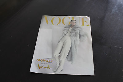 VINTAGE vogue BROCHURE catalogue HARRODS FUR COATS