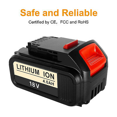 Replace Dewalt DCB182 18V 4.0Ah XR Li-Ion Lithium Battery To Fit DCS387 DCS391