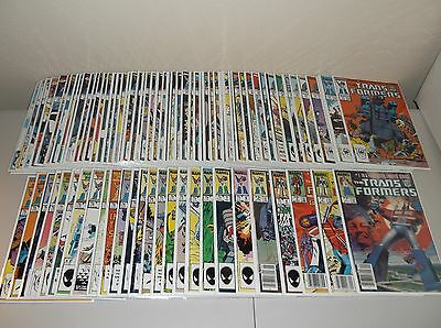 Transformers #1-80 (Complete 1984 Marvel series) Full lot set run     VG to VF