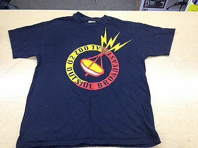 Vintage U2 Zoo TV Outside Broadcast Tour Shirt Adult L 90s Dates Achtung Zooropa