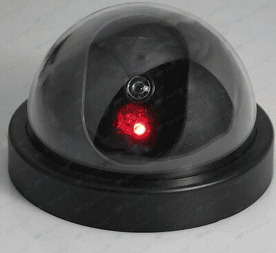 Dome Fake Dummy Surveillance Security Camera with Flashing LED Outdoor Indoor