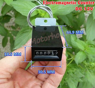 Yenox 12V DC Electromagnetic Counter 6 bit IMPULSE Cumulative Counter 18CPS