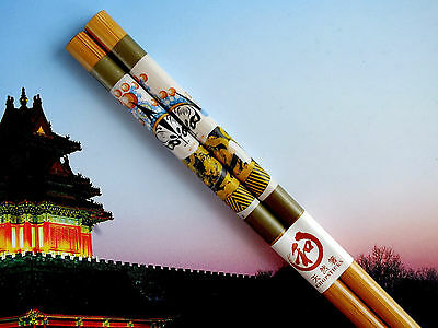 Japanese Opera Bamboo Chopsticks Party Chinese Hair Stick Pin New Year Dinner A1