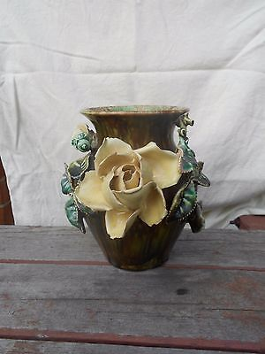 Unusual Antique Shabby Chic Vase