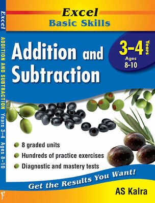 Excel Basic Skills - Addition & Subtraction Years 3-4 Pascal Press 9781864412864