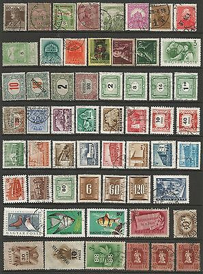 HUNGARY - Collection of 68 fine used stamps from 1940s & 50s