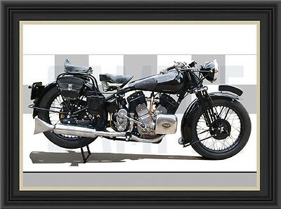 Brough Superior 1150 1935 Motorcycle Print / Classic Bike Poster