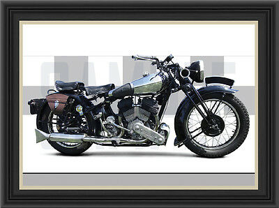 Brough Superior Ss80 1938 Motorcycle Print / Classic Bike Poster
