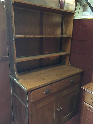 ANTIQUE PINE KITCHEN DRESSER, col LL219LY OR COURIER