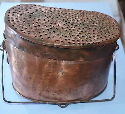 WW1 Russian Imperial soldier copper pot used as a filter