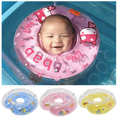 Cute Baby Kids Child Infant Swimming Neck Float Inflatable Tube Safety Rings E5T