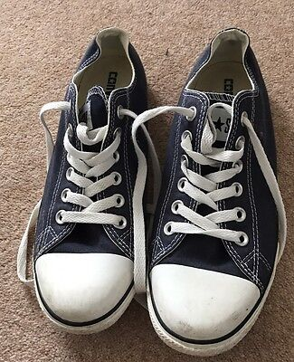 Ladies Blue Converse Shoes Size 6 (eu 39)