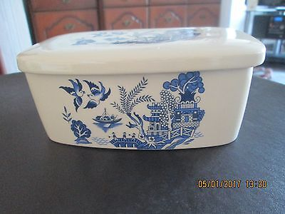 Ringtons Butter Dish--Willow Pattern--Palissy
