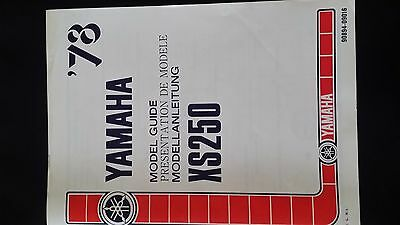 yamaha XS250 model guide in english / french / german 1978