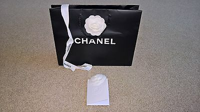 Chanel Paper Carrier Bag With Camellia And Ribbon