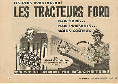 1958 Ford 800 Tractor Original Ad In French