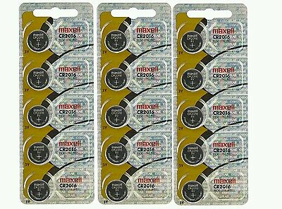 Maxell CR2016 CR 2016 DL2016 3v lithium coin watch batteries hologram (15 pcs)