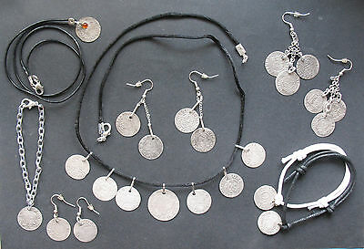 A large set of jewelry from the seventeenth century coins (58 coins).