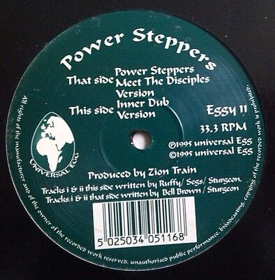 """POWER STEPPERS - """"Meet the Disciples"""", Electronic Dub 12"""", Universal Egg, 1995"""