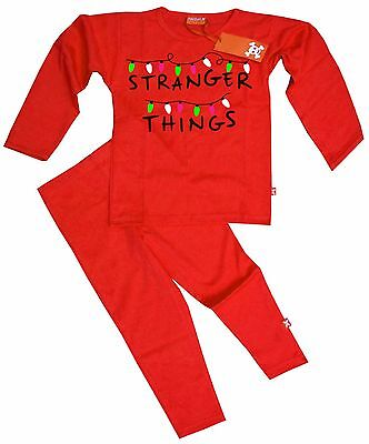 Ethical Kids Childrens Boys Girls Stranger Things Pyjamas Pajamas (Red)