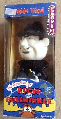 "ROCKY & BULLWINKLE Boris Badenov Bobble Head Nodder 6 1/2"" Figure NEW IN BOX NOS"