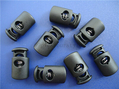 Detachable Cap Plastic Round Toggle Stopper Cord Locks End Tag Label Hang Tag.